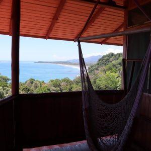 hammock on balcony with ocean view