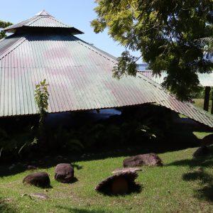 metal roof of yoga pavilion