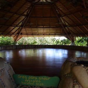 shaded yoga pavilion