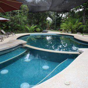 calm blue pool